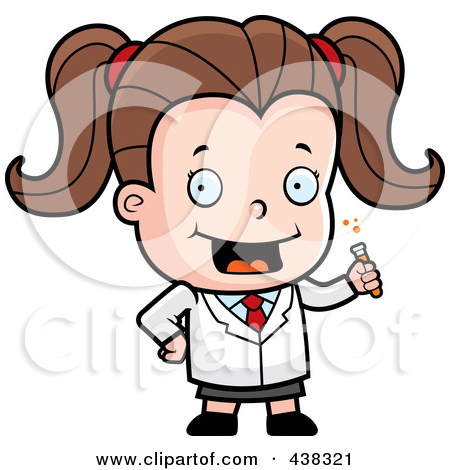 450x470 Girl Mad Scientist Clipart