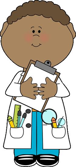 250x550 Science Clipart Kid Scientist