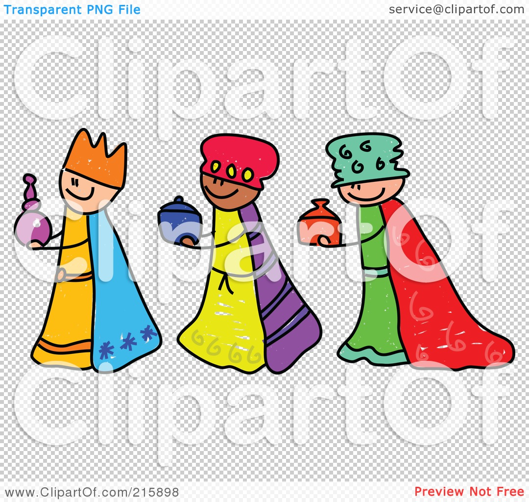 1080x1024 Royalty Free (Rf) Clipart Illustration Of A Childs Sketch Of Three