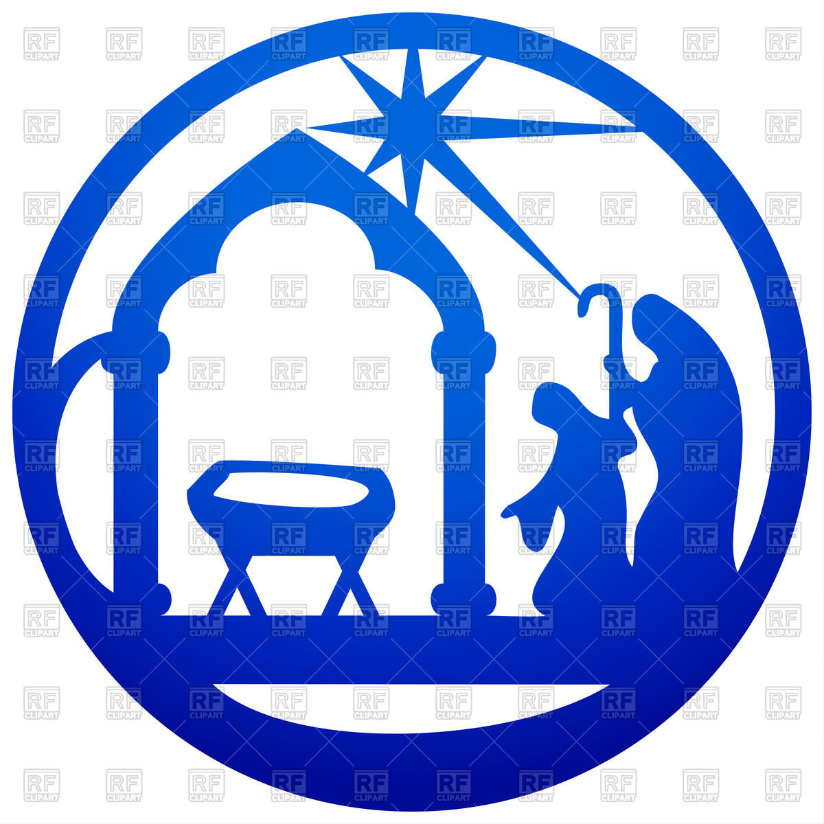 1200x1200 Adoration Of Magi Silhouette Christian Icon Royalty Free Vector