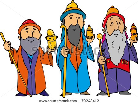 450x339 Cartoon Of The Three Wise Men With Gold Frankincense And Myrrh Fasab