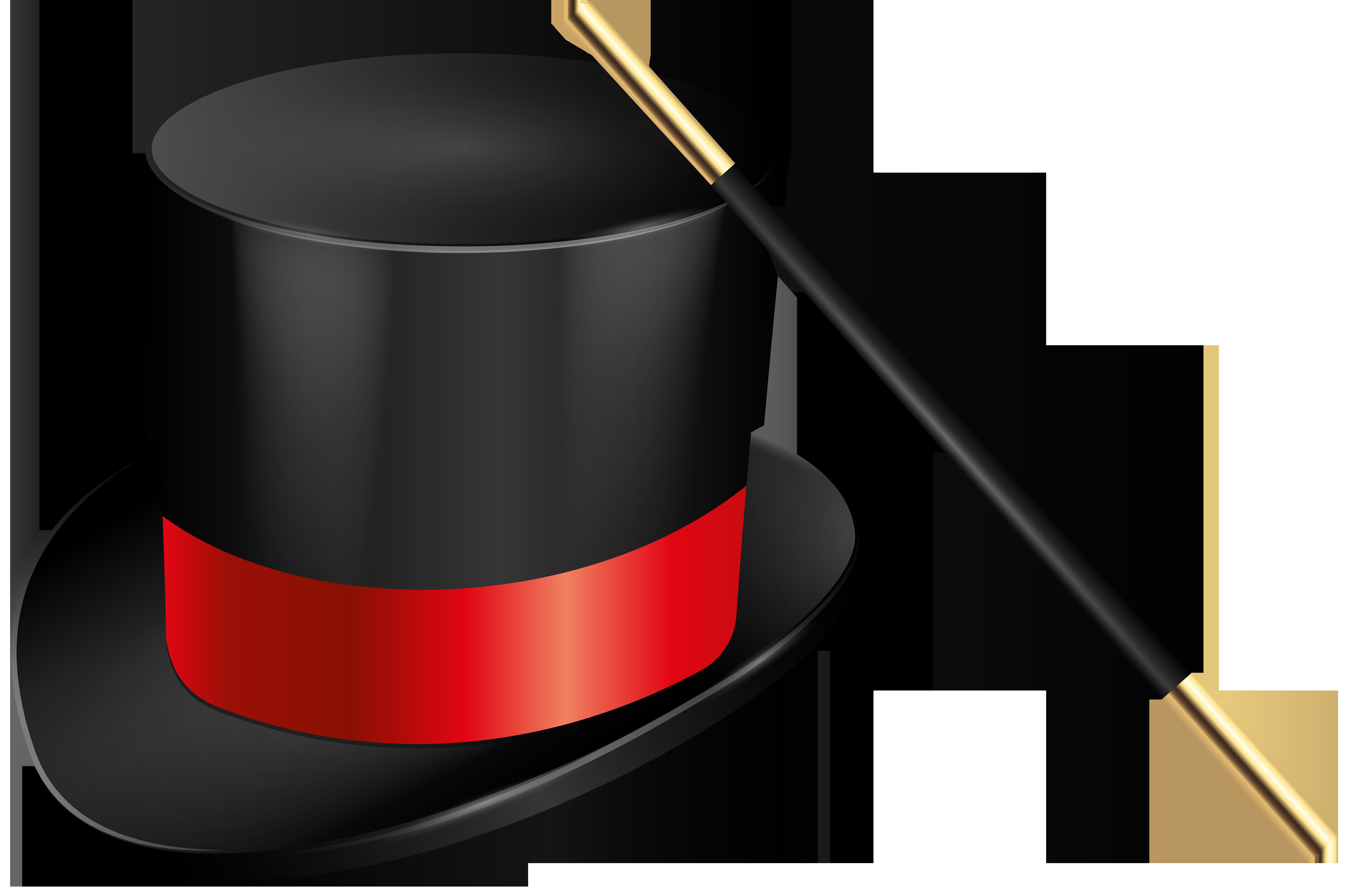 8000x5315 Magic Hat And Magic Wand Png Clip Art Imageu200b Gallery