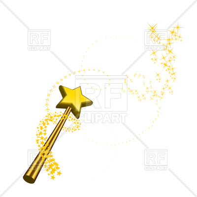 400x400 Magic Wand Isolated On A White Background Royalty Free Vector Clip