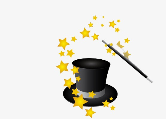 555x399 Magic Hat, Five Pointed Star, Black Png Image And Clipart For Free