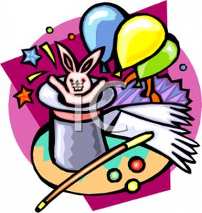 284x300 A Bunny And Balloons In A Magic Hat