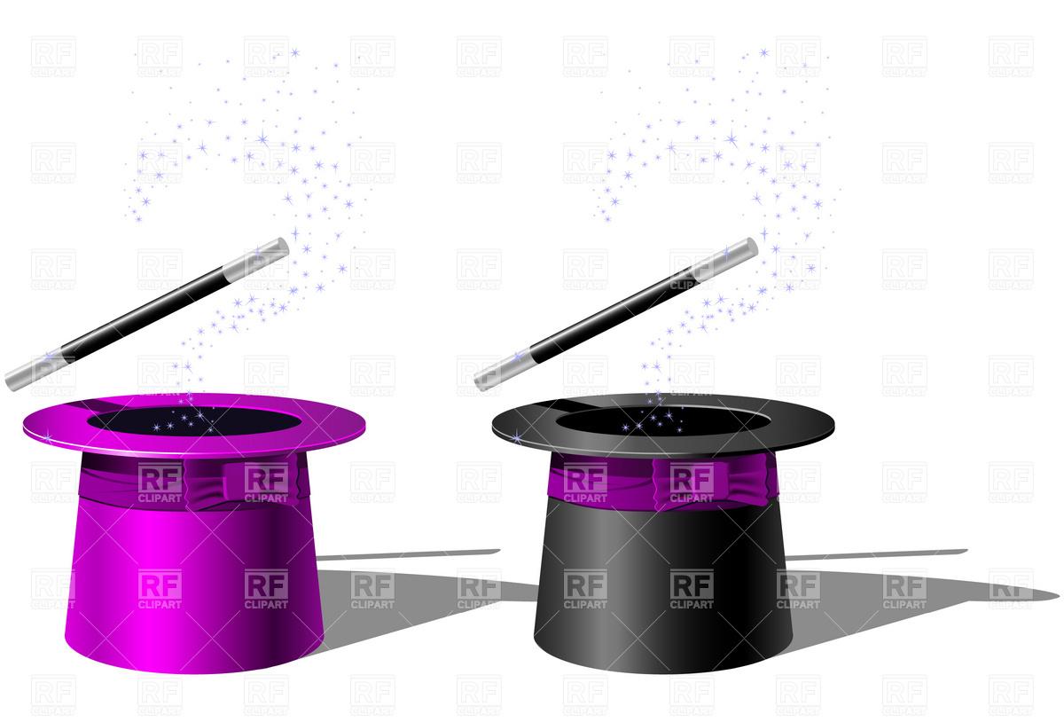 1200x814 Magician Top Hat And Magic Wand Royalty Free Vector Clip Art Image