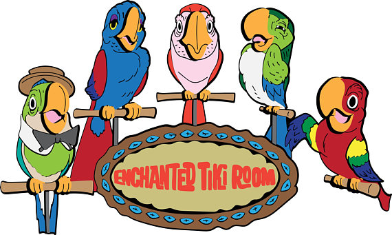 570x341 Enchanted Tiki Room Title Digital File Svg, Eps, Jpg, Dxf
