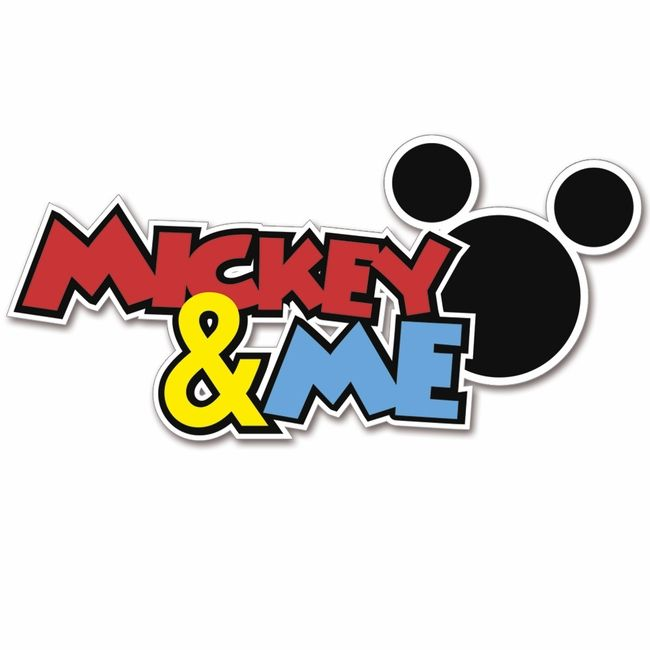 650x650 Magic Moments Mickey And Me Laser Die Cut Brand Spankin' New