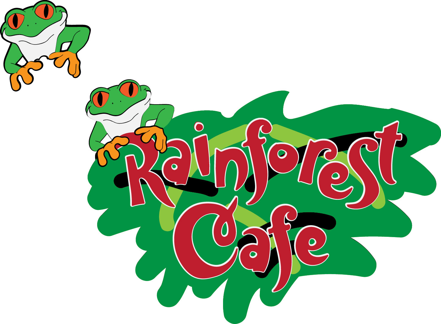 1475x1085 Rainforest Cafe Title And Frog Digital File Svg, Dxf, Jpg, Png