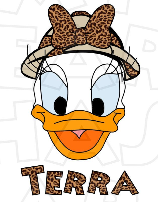 628x800 Safari Daisy Duck Head Animal Kingdom Instant Download Digital