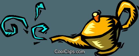 480x193 Magic Lamp Royalty Free Vector Clip Art Illustration Vc018171