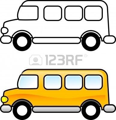 387x400 School Bus Clipart Black And White Furniture Walpaper