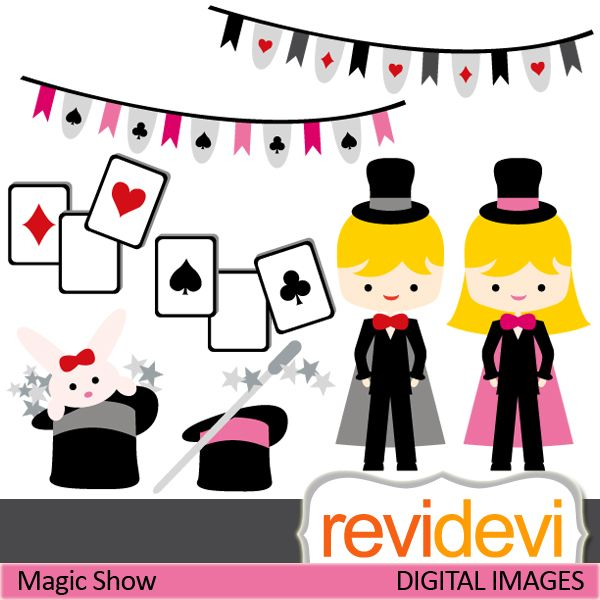 600x600 Magic Show Cliparts. Little Magician, Magic Wand, Playing Cards