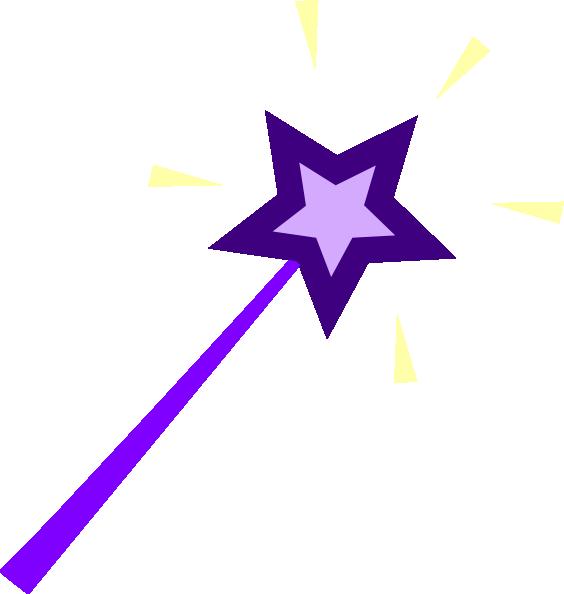 564x594 Purple Wand Clip Art