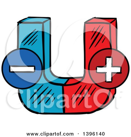 450x470 Clipart Of A Sketched Magnet