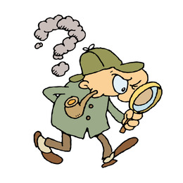 260x260 Free Download Sherlock Holmes Detective Magnifying Glass Clip Art