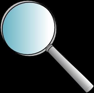 300x298 Magnifying Glass Clip Art
