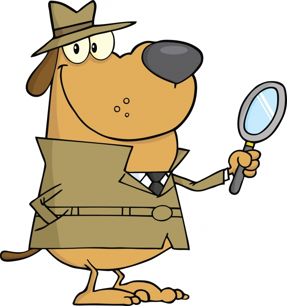960x1024 Cartoon Detective With Magnifying Glass Free Clipart 39 In Free