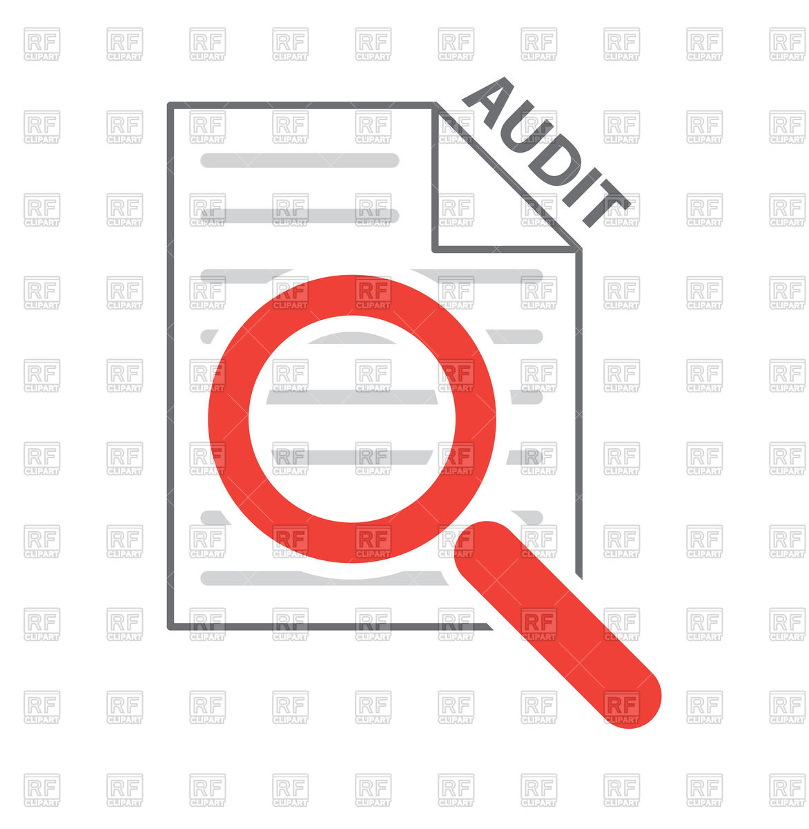 1172x1200 Magnifying Glass On Checklist, Process Audit Icon Royalty Free