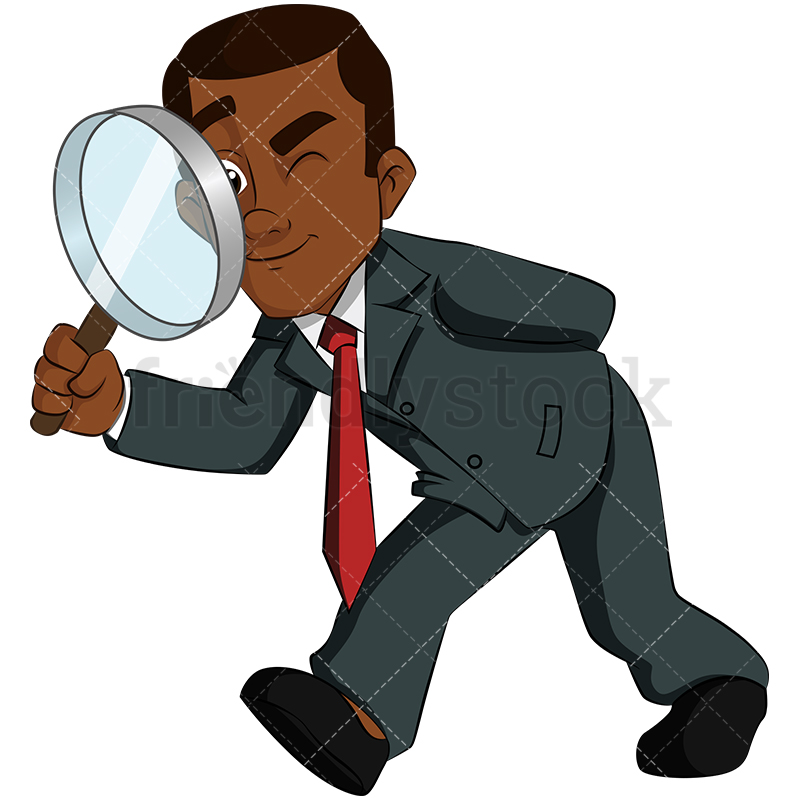 800x800 Person With Magnifying Glass Clipart