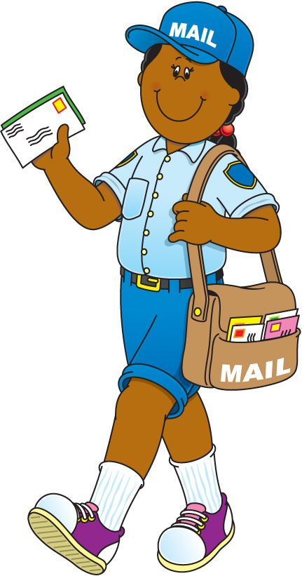 431x821 Community Helper Mail Carrier School Learning Community Helpers