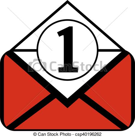 450x459 Mail Button On White. Mail Button On White Background . Clip Art