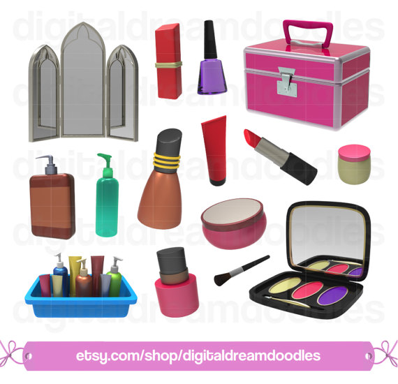 570x550 Makeup Clipart, Make Up Clip Art, Cosmetics Png, Beauty Set Image