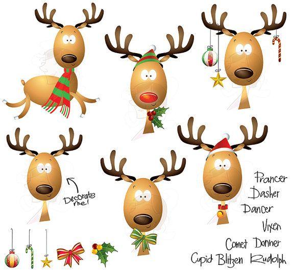 570x529 Christmas Reindeer Clipart School Teacher Supplies Scrapbook