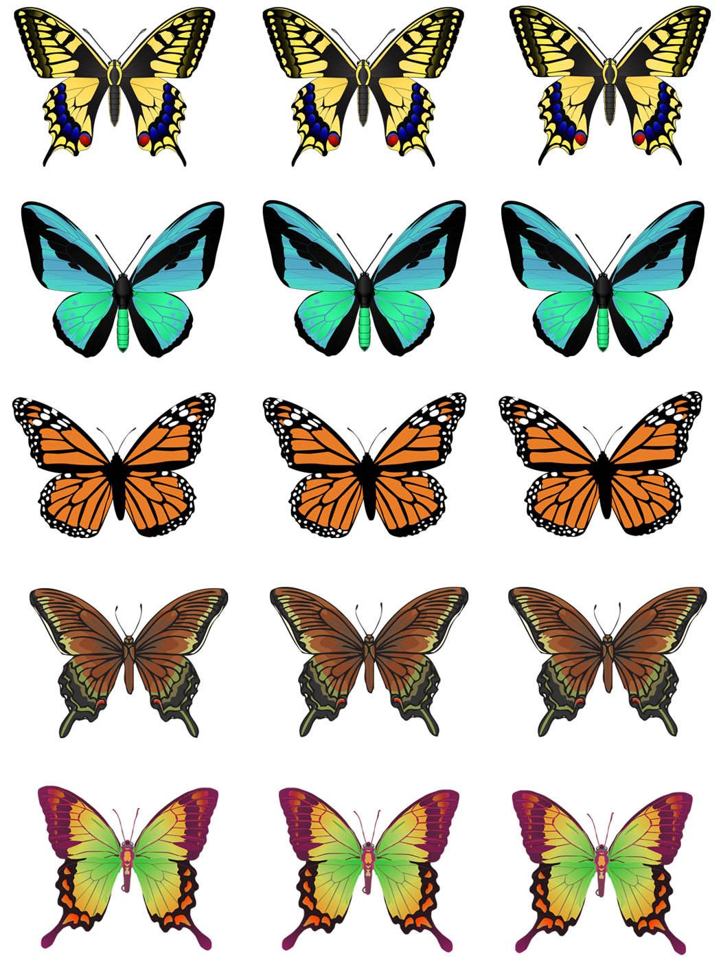 1050x1400 Make Your Own Unique Cupcake Toppers Clip Art, Butterfly