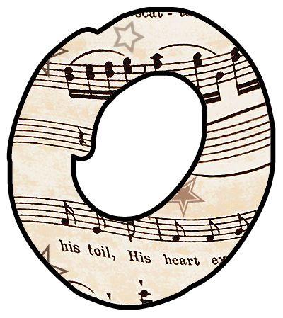 400x449 Vintage Music Clip Art Font Artbyjean Printables