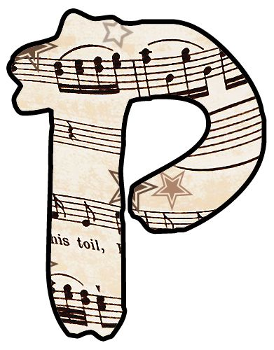 391x500 54 Best Vintage Music Alphabet And Numbers Images