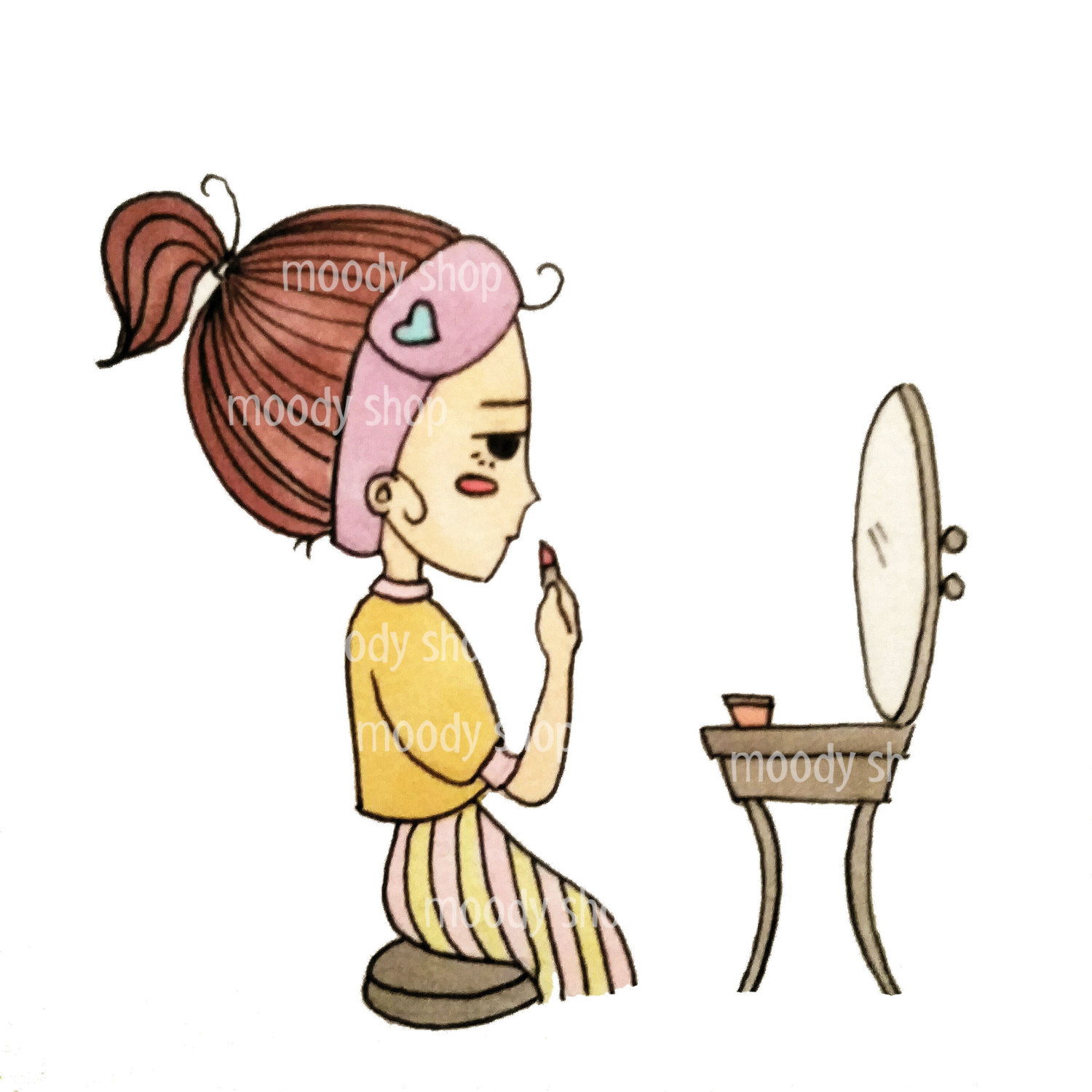 1500x1500 Collection Of Doing Makeup Clipart High Quality, Free
