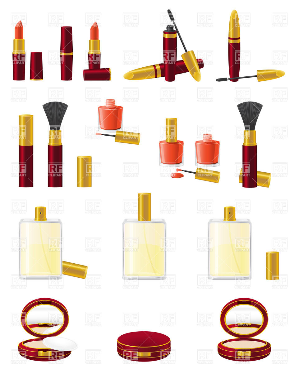 933x1200 Big Set Of Cosmetics Royalty Free Vector Clip Art Image