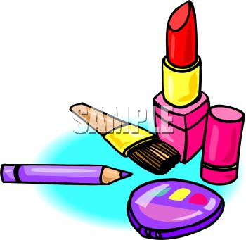 350x341 Cosmetics Lipstick And Eyeliner With A Compact