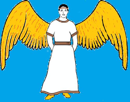 500x393 Male Angel Public Domain Vectors