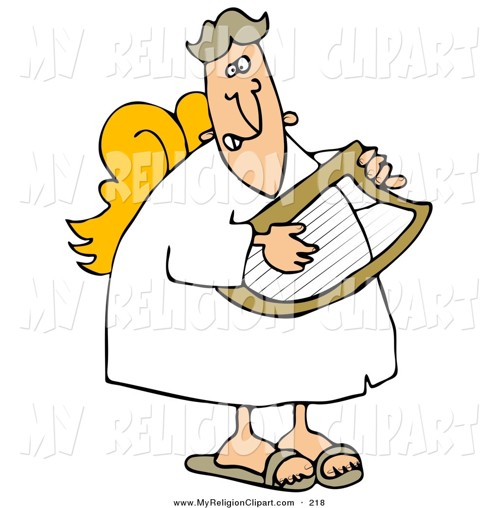 1024x1044 Religion Clip Art Of A Grinning White Male Angel In A White Robe