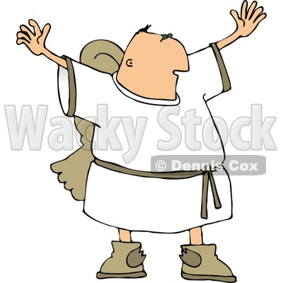 400x400 Religious Male Angel With Wings Trying To Grab Everyone'S
