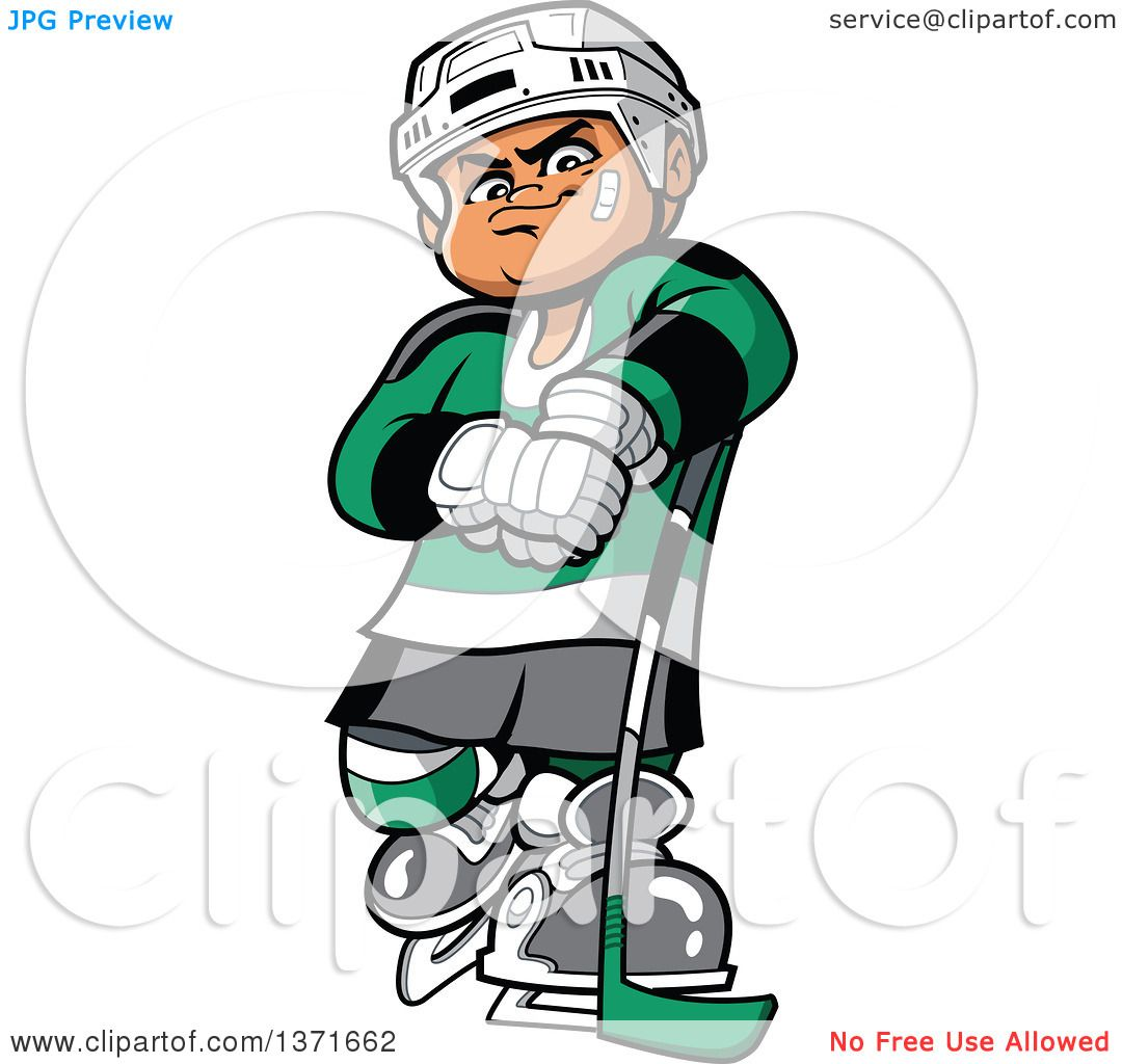 1080x1024 Clipart Of A Tough White Male Hockey Player
