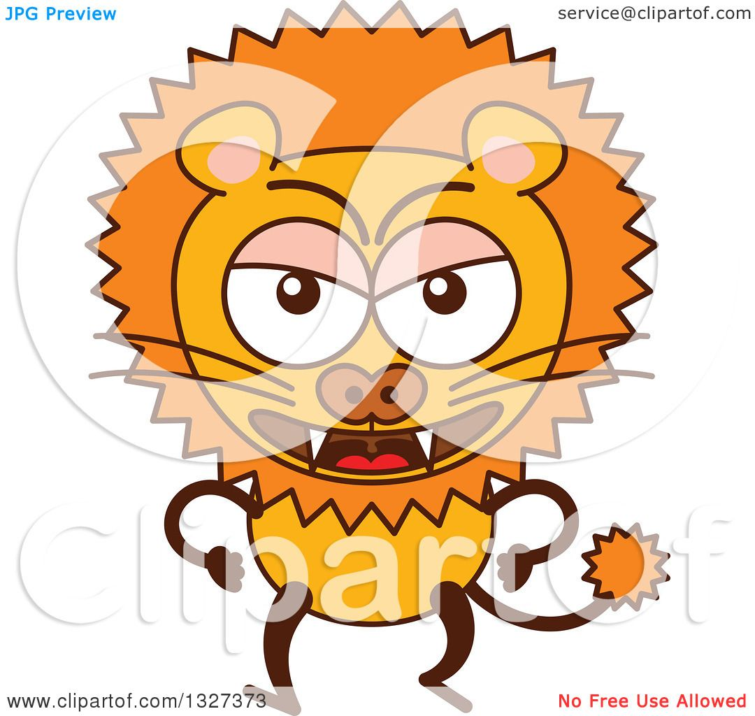 1080x1024 Clipart Of A Cartoon Angry Male Lion