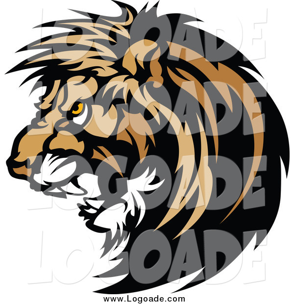 600x620 Clipart Of A Growling Male Lion Logo By Chromaco