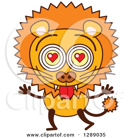450x470 Clipart Of A Smitten Male Lion In Love