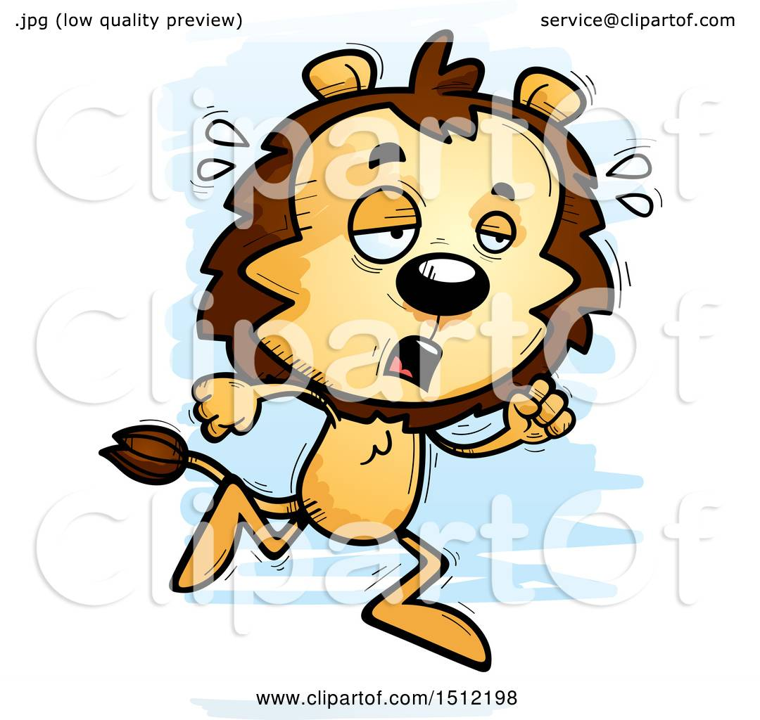 1080x1024 Clipart Of A Tired Running Male Lion