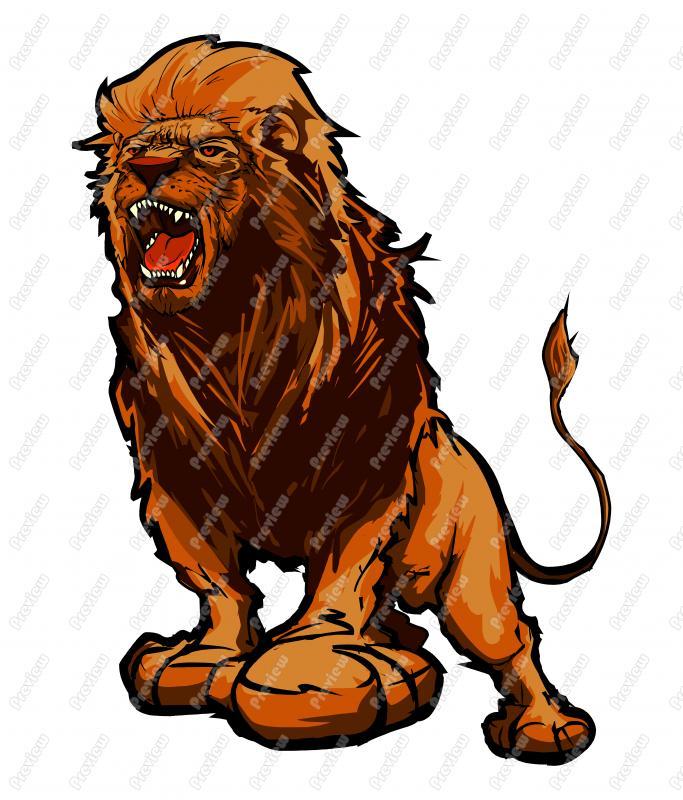 683x800 Male Lion Character Clip Art