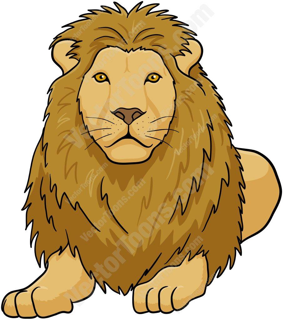 905x1024 Male Lion Lying Down Cartoon Clipart Vector Toons