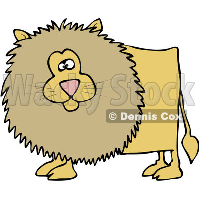 400x400 Royalty Free (Rf) Clipart Illustration Of A Chubby Male Lion