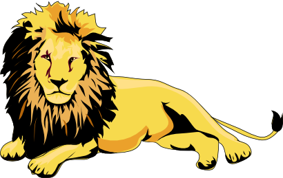 410x259 This Male Lion Clip Art Is In Clipart Panda