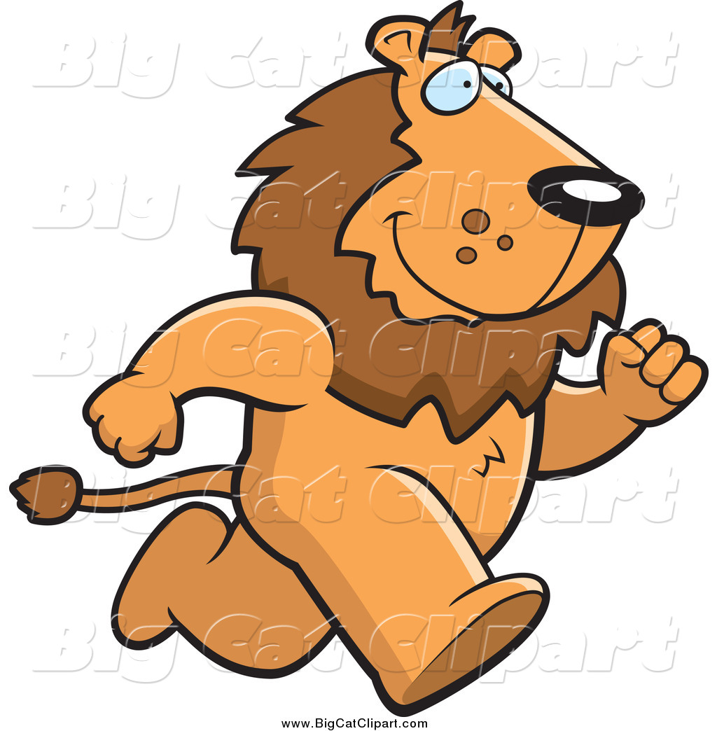 1024x1044 Big Cat Cartoon Vector Clipart Of A Male Lion Running Upright