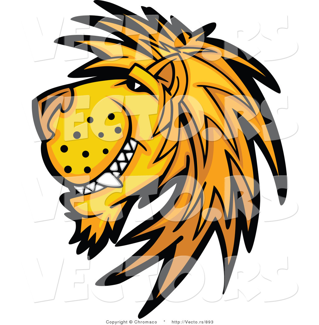1024x1044 Cartoon Vector Of A Happy Young Male Lion Mascot By Chromaco