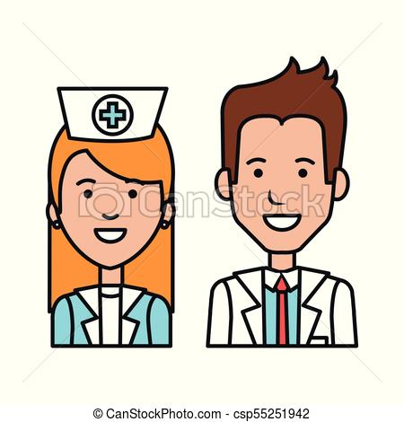 450x470 Doctor Nurse Character Staff Medical Care People Vector Eps
