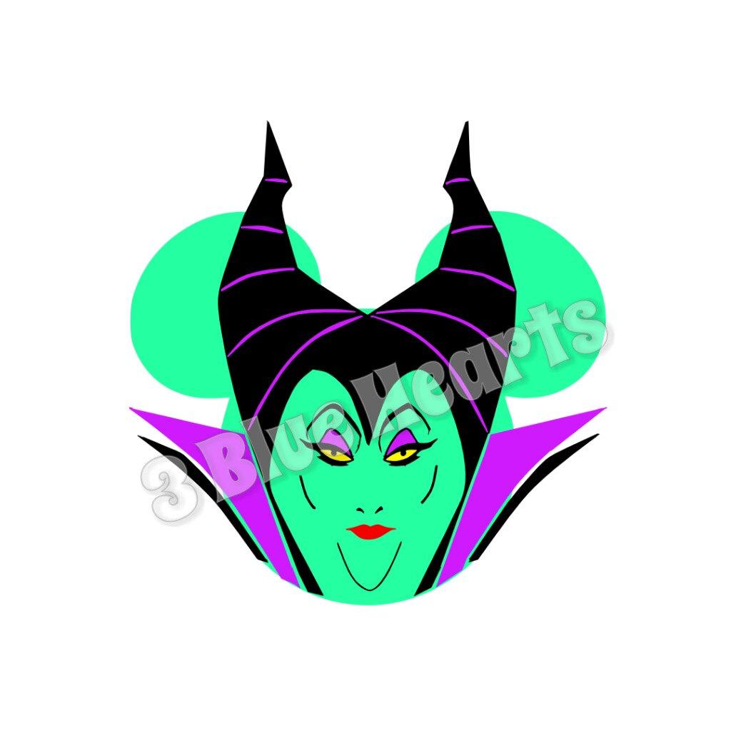 1024x1024 Maleficent Mickey Head, Disney Svg Dxf Png Studio, Maleficent Svg